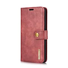 Недорогие Чехлы и кейсы для LG-Кейс для Назначение LG V30 V20 Бумажник для карт со стендом Флип Чехол Сплошной цвет Твердый Настоящая кожа для LG V30 LG V20