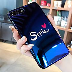 Недорогие Кейсы для iPhone 6 Plus-Кейс для Назначение Apple iPhone X / iPhone 7 Plus С узором Кейс на заднюю панель Слова / выражения Мягкий Силикон для iPhone X / iPhone 8 Pluss / iPhone 8