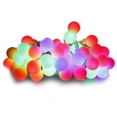 povoljno LED strip svjetla-Žice sa svjetlima 100 LED diode Toplo bijelo Bijela Više boja Ružičasto Žuto Plavo Crveno Zatamnjen 220V 110-130V
