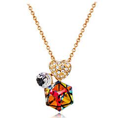 preiswerte Halsketten-Damen Kristall / Kubikzirkonia Anhängerketten - Roségold, Krystall, Zirkon Herz Klassisch Regenbogen Modische Halsketten Für Party, Formal