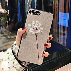 Недорогие Кейсы для iPhone-Кейс для Назначение Apple iPhone X / iPhone 7 Plus С узором Кейс на заднюю панель Сплошной цвет Мягкий текстильный для iPhone X / iPhone 8 Pluss / iPhone 8