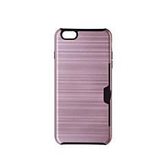 Недорогие Кейсы для iPhone-Кейс для Назначение Apple iPhone 6 Plus iPhone 7 Бумажник для карт Кейс на заднюю панель Сплошной цвет Твердый пластик для iPhone 7