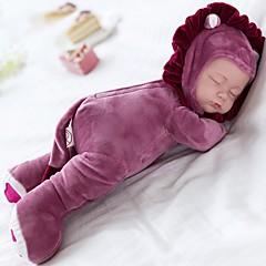 abordables muñecas-Muñeco de peluche Bebé 14 pulgada Silicona / Vinilo - Lullaby Kid de Chica Regalo