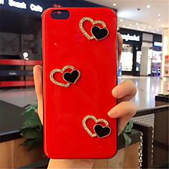 Недорогие Кейсы для iPhone 7-Кейс для Назначение Apple iPhone X iPhone 7 Plus С узором Кейс на заднюю панель С сердцем Мягкий Силикон для iPhone X iPhone 8 Pluss