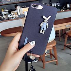 Недорогие Кейсы для iPhone X-Кейс для Назначение Apple iPhone X / iPhone 7 Plus С узором Кейс на заднюю панель Однотонный Мягкий текстильный для iPhone X / iPhone 8 Pluss / iPhone 8