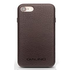Недорогие Кейсы для iPhone-Кейс для Назначение Apple iPhone 8 iPhone 7 Защита от удара Кейс на заднюю панель Сплошной цвет Твердый Настоящая кожа для iPhone 8