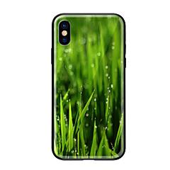 Недорогие Кейсы для iPhone-Кейс для Назначение Apple iPhone X iPhone 8 С узором Кейс на заднюю панель Растения Твердый Закаленное стекло для iPhone X iPhone 8 Pluss