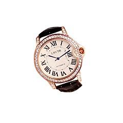 preiswerte Damenuhren-Damen Quartz Modeuhr Japanisch Armbanduhren für den Alltag Echtes Leder Band Freizeit Schwarz Weiß Rot Braun