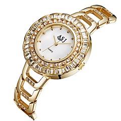 お買い得  レディース腕時計-ASJ 女性用 カジュアルウォッチ ファッションウォッチ 日本産 クォーツ 30 m 模造ダイヤモンド ステンレス バンド ハンズ カジュアル ファッション シルバー / ゴールド - ゴールド シルバー 2年 電池寿命 / SSUO 377