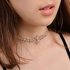 preiswerte Halsketten-Damen Kubikzirkonia Halsketten - Blume Klassisch, Modisch Gold, Silber Modische Halsketten Schmuck Für Geburtstag, Geschenk, Party