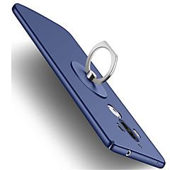 Недорогие Чехлы и кейсы для Huawei Mate-Кейс для Назначение Huawei Mate 9 Защита от удара Кольца-держатели Кейс на заднюю панель Сплошной цвет Твердый пластик для Mate 9