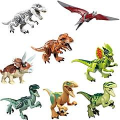 저렴한 -Original Jurassic World Tyrannosaurus Building Blocks Jurrassic Park 인터락킹 블럭 장난감 장난감 공룡 동물 클래식 8pcs 조각 생일 선물