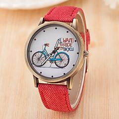 preiswerte Damenuhren-Damen Quartz Chinesisch Armbanduhren für den Alltag Leder Band Modisch Schwarz Weiß Blau Rot Braun Grün Grau Rosa Gelb