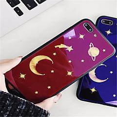 olcso iPhone 6 Plus tokok-Case Kompatibilitás Apple iPhone X iPhone 7 Plus Minta Fekete tok Rajzfilm Kemény Hőkezelt üveg mert iPhone X iPhone 8 Plus iPhone 8
