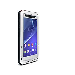 Недорогие Чехлы и кейсы для Sony-Кейс для Назначение Sony Xperia Z2 Вода / Грязь / Надежная защита от повреждений Чехол Сплошной цвет Твердый Металл для Sony Xperia Z2