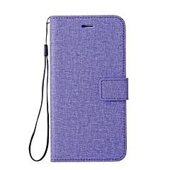 Недорогие Кейсы для iPhone 7-Кейс для Назначение Apple iPhone X iPhone 8 Бумажник для карт Кошелек со стендом Флип Чехол Сплошной цвет Твердый Кожа PU для iPhone X