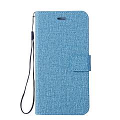 Недорогие Чехлы и кейсы для Xiaomi-Кейс для Назначение Xiaomi Mi 6 Mi 5X Бумажник для карт Кошелек со стендом Флип Чехол Сплошной цвет Твердый Кожа PU для Xiaomi Mi Note 2