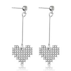 preiswerte Ohrringe-Damen Tropfen-Ohrringe - Diamantimitate Herz Süß Silber Für Alltag / Valentinstag