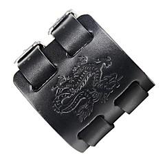 cheap Bracelets-Men's Leather Cool Steampunk Dragon 1pc Leather Bracelet - Steampunk Rock Black Brown Bracelet For Club Street