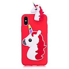 cheap iPhone Cases-Case For Apple iPhone X iPhone 8 Plus Squishy Back Cover Unicorn Soft TPU for iPhone X iPhone 8 Plus iPhone 8 iPhone 7 Plus iPhone 7