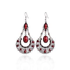 preiswerte Ohrringe-Damen Synthetischer Tansanit Tropfen-Ohrringe - Tropfen Süß, Modisch Grau / Rot / Grün Für Karnival / Ausgehen