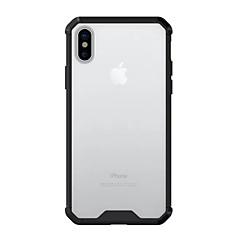 Недорогие Кейсы для iPhone-Кейс для Назначение Apple iPhone X Защита от удара Прозрачный Кейс на заднюю панель Сплошной цвет Твердый Акрил для iPhone X