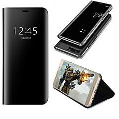 olcso Huawei tokok-Case Kompatibilitás Huawei P10 Plus P10 Lite Állvánnyal Tükör Flip Automatikus alvó állapot/felébredés Héjtok Tömör szín Kemény PU bőr