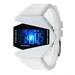 preiswerte Digitaluhren-Herrn Damen Modeuhr Japanisch Quartz 30 m Armbanduhren für den Alltag Silikon Band digital Glanz Schwarz / Weiß / Blau - Schwarz Rot Blau Ein Jahr Batterielebensdauer