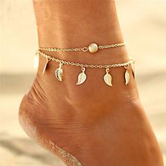 billige Kropssmykker-Lag-på-lag / Kvast Ankel - Bladformet Bohemisk, Bikini, Boheme Guld / Sølv Til Gave / Aftenselskab / Dame