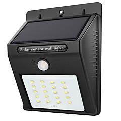 abordables Luces de Exterior-1pc 2W Luces solares LED Sensor de infrarrojos Impermeable Control de luz Iluminación Exterior Blanco DC3.7V