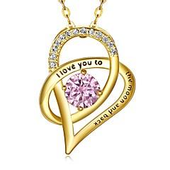 preiswerte Halsketten-Damen Kubikzirkonia Anhängerketten - Sterling Silber Herz Modisch Gold, Silber Modische Halsketten Schmuck 1 Für Verlobung, Geschenk