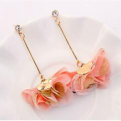 preiswerte Ohrringe-Damen Kronleuchter Lang Tropfen-Ohrringe - Blumen / Botanik, Blume Europäisch, Modisch Purpur / Gelb / Rosa Für Normal Alltag