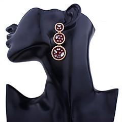 preiswerte Ohrringe-Damen Tropfen-Ohrringe - vergoldet Klassisch Rot / Grün / Blau Für Strasse / Ausgehen