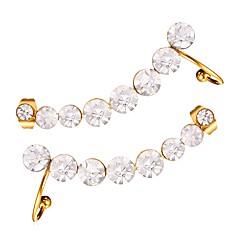 preiswerte Ohrringe-Damen Ohrstecker - vergoldet Einfach Gold / Silber Für Party / Verabredung