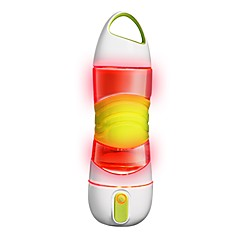 halpa Leirikeittiö-Vesipullot Hohtaa pimeässä Spraypullo Liukkauden esto SOS Hätävalaistus BPA: ta PP+ABS Silikoni varten Pyörä Jumppa Fitness Juoksu