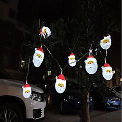 お買い得  LED ストリングライト-160 ストリングライト 10 LED ホワイト 装飾用 単3乾電池 1個