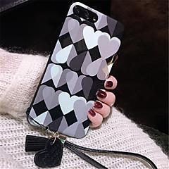Недорогие Кейсы для iPhone 6-Кейс для Назначение Apple iPhone X / iPhone 7 Plus С узором Кейс на заднюю панель С сердцем Мягкий ТПУ для iPhone X / iPhone 8 Pluss / iPhone 8