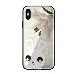 Недорогие Кейсы для iPhone 6-Кейс для Назначение Apple iPhone X iPhone 8 С узором Кейс на заднюю панель Животное Твердый Закаленное стекло для iPhone X iPhone 8 Pluss