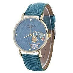 お買い得  レディース腕時計-女性用 ファッションウォッチ クォーツ 大きめ文字盤 PU バンド ハンズ カジュアル ファッション ブラック / 白 / ブルー - Brown レッド ブルー 1年間 電池寿命