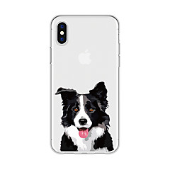 olcso iPhone 6s Plus tokok-Case Kompatibilitás Apple iPhone X iPhone 8 Plus Minta Fekete tok Kutya Rajzfilm Állat Puha TPU mert iPhone X iPhone 8 Plus iPhone 8