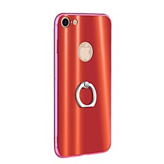 Недорогие Кейсы для iPhone-Кейс для Назначение Apple iPhone 8 iPhone 8 Plus Кольца-держатели Ультратонкий Кейс на заднюю панель Однотонный Твердый ТПУ для iPhone 8