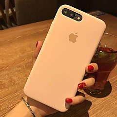 tanie Etui do iPhone 6s Plus-Kılıf Na Apple iPhone X iPhone 8 Odporne na wstrząsy Czarne etui Solid Color Twarde Skóra PU na iPhone X iPhone 8 Plus iPhone 8 iPhone 7