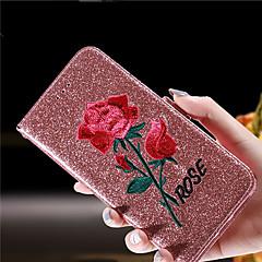 abordables Fundas para iPhone 5-Funda Para Apple iPhone 8 iPhone 8 Plus Soporte de Coche Cartera Antigolpes con Soporte Flip Funda de Cuerpo Entero Flor Brillante Dura