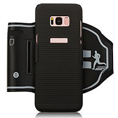 Недорогие Универсальные чехлы и сумочки-Кейс для Назначение SSamsung Galaxy S8 Plus / S8 Спортивные повязки / Бумажник для карт / Защита от удара С ремешком на руку Однотонный Мягкий ПК для S8 Plus / S8
