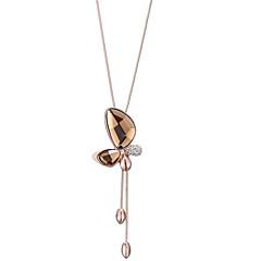 preiswerte Halsketten-Damen Kubikzirkonia Anhängerketten  -  Zirkon Schmetterling Süß, Modisch Hellbraun 79 cm Modische Halsketten Für Alltag, Ausgehen