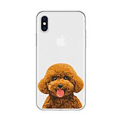 Недорогие Кейсы для iPhone-Кейс для Назначение Apple iPhone X / iPhone 8 Plus С узором Кейс на заднюю панель С собакой / Животное / Мультипликация Мягкий ТПУ для iPhone X / iPhone 8 Pluss / iPhone 8