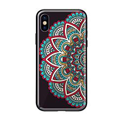 Недорогие Кейсы для iPhone-Кейс для Назначение Apple iPhone X iPhone 8 С узором Кейс на заднюю панель Мандала Твердый Закаленное стекло для iPhone X iPhone 8 Pluss