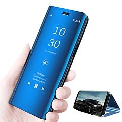 tanie Nowości-Kılıf Na Huawei P20 lite P20 Z podpórką Lustro Flip Automatyczne uśpienie / wybudzenie Pełne etui Jendolity kolor Twarde Skóra PU na