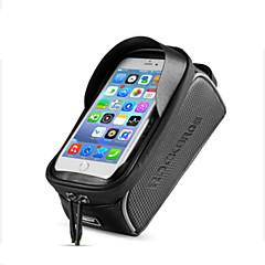 abordables Bolsas para Bicicleta-Bolso del teléfono celular 6 pulgada Pantalla táctil, Impermeable, Reflexivo Ciclismo para iPhone 8/7/6S/6 / iPhone X / Samsung Galaxy S8+ / Note 8 Negro / Portátil