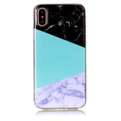 Недорогие Кейсы для iPhone 6 Plus-Кейс для Назначение Apple iPhone X iPhone 8 Ультратонкий Кейс на заднюю панель Мрамор Мягкий ТПУ для iPhone X iPhone 8 Pluss iPhone 8